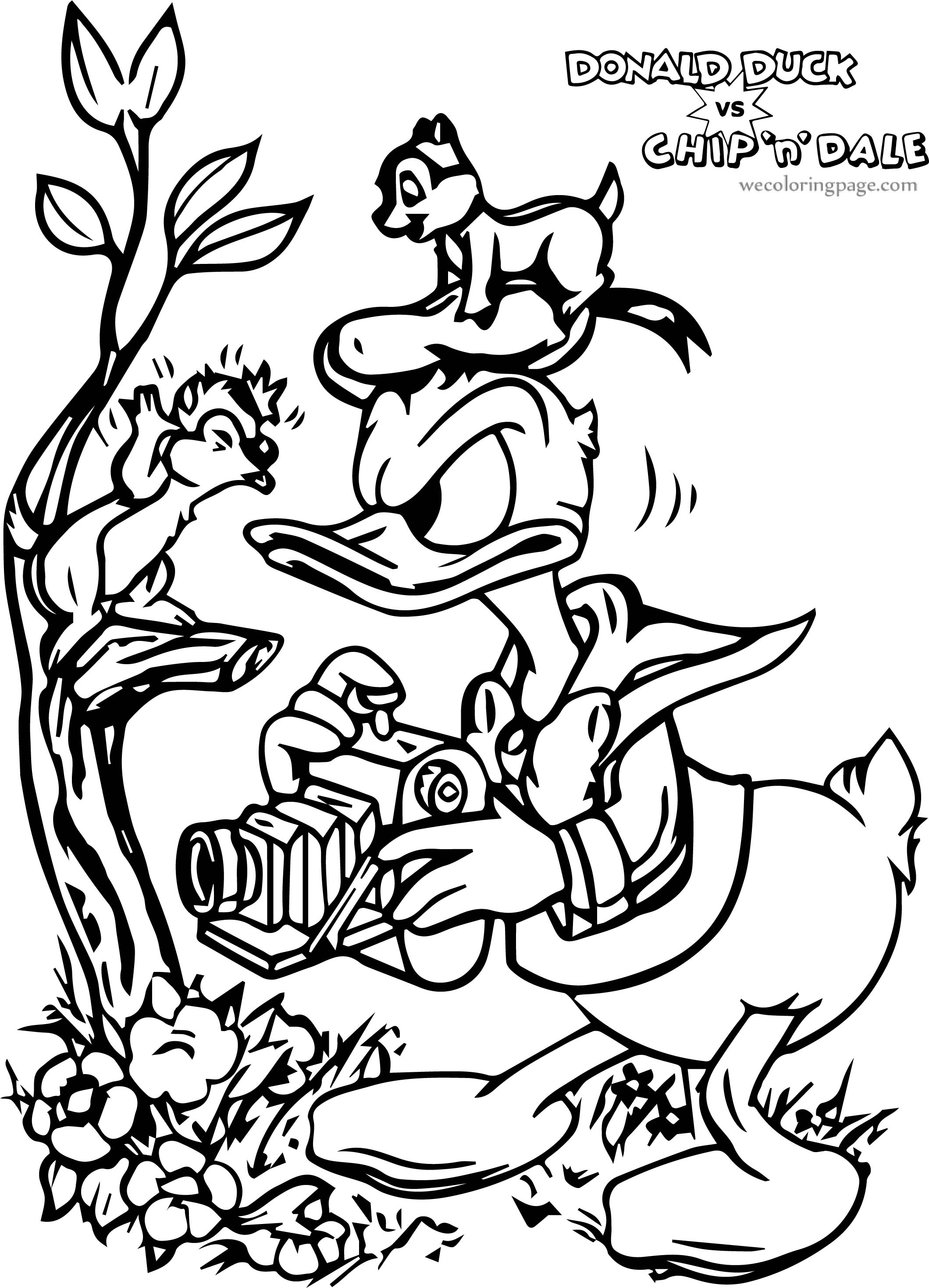 Donald Duck Chip And Dale Donald Duck Coloring Page