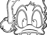 Donald Duck Outline Coloring Page