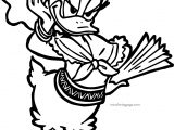 Donna Duck Cool Daisy Pose Coloring Page