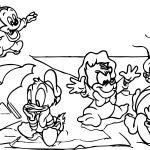 Ducktales Mickey Mouse Donald Duck Goofy Pluto Disney Characters Donald Duck Coloring Page