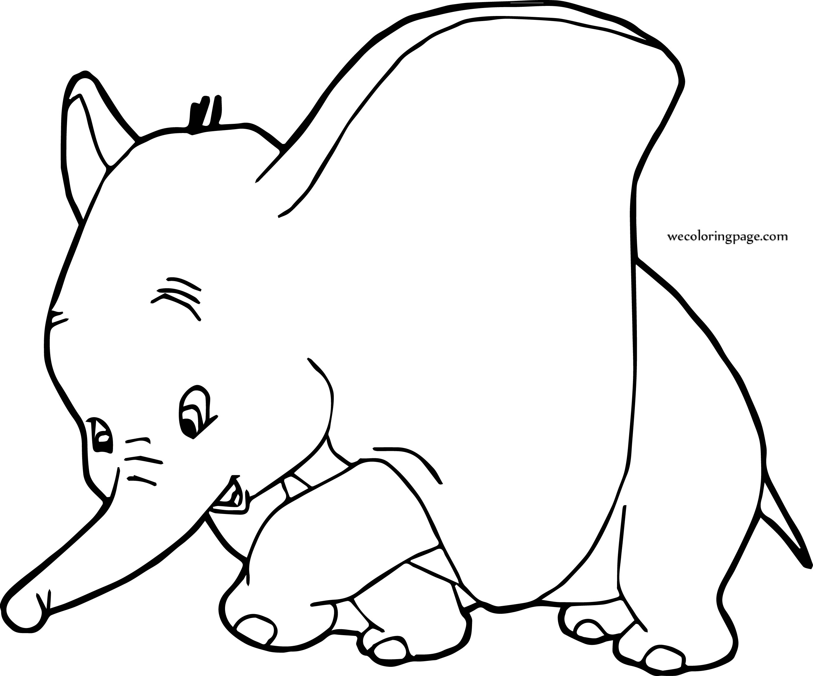 Dumbo Circus Coloring Page