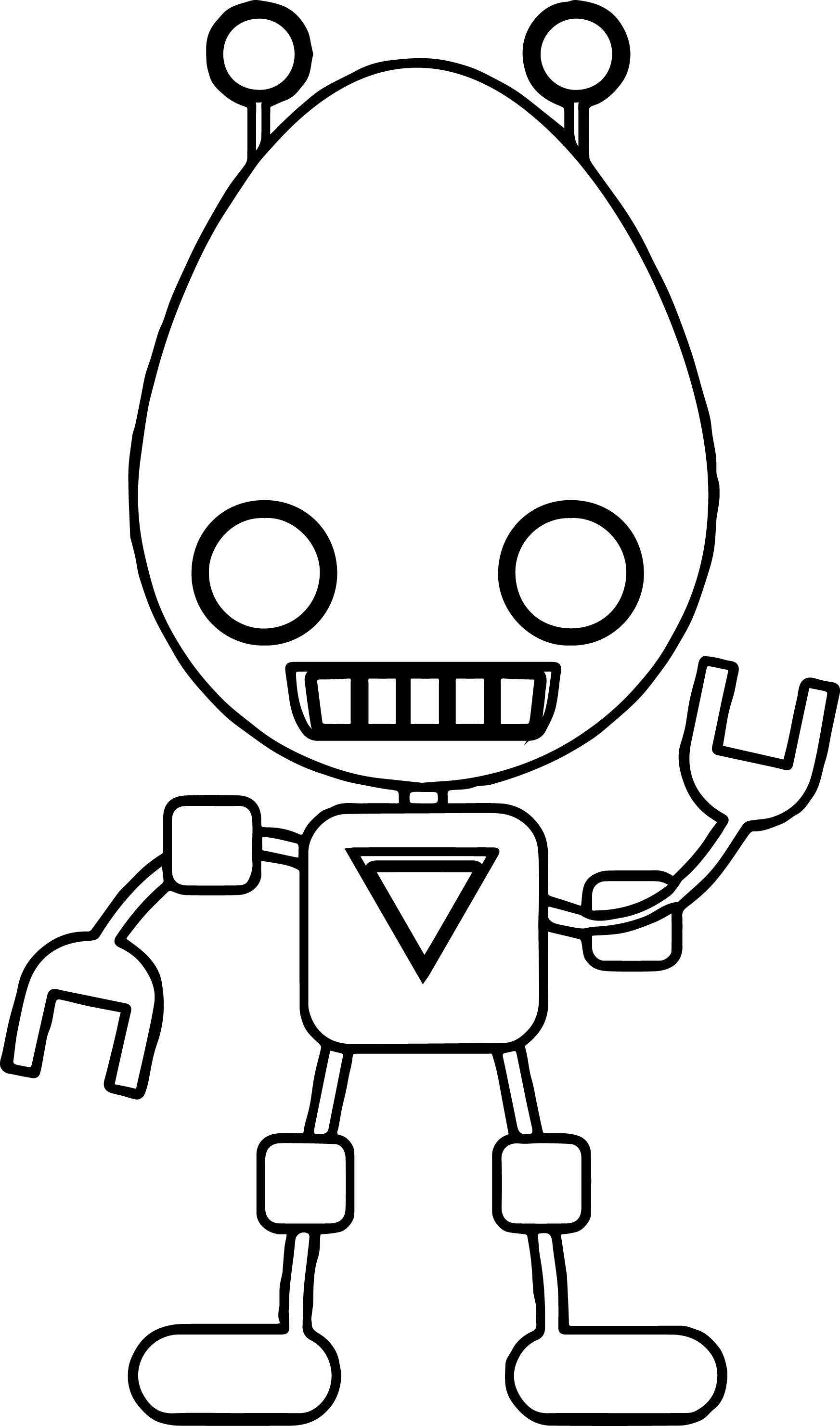 Egg Robot Coloring Page