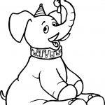 Elephant Umbrella Circus Coloring Page