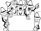 Five Crayon Sheet Coloring Page