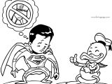 Funny Donald Duck And Superman Coloring Page