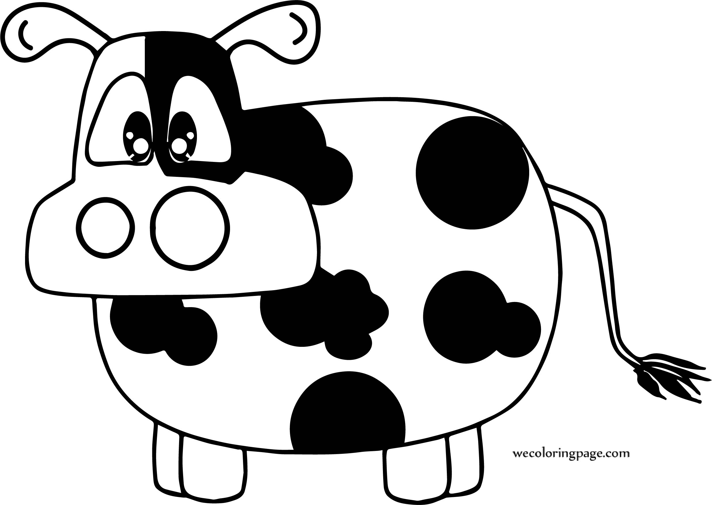 Gallery For Cow Coloring Page | Wecoloringpage