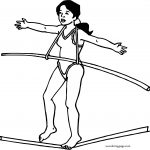 Girl Circus Acrobat Coloring Page