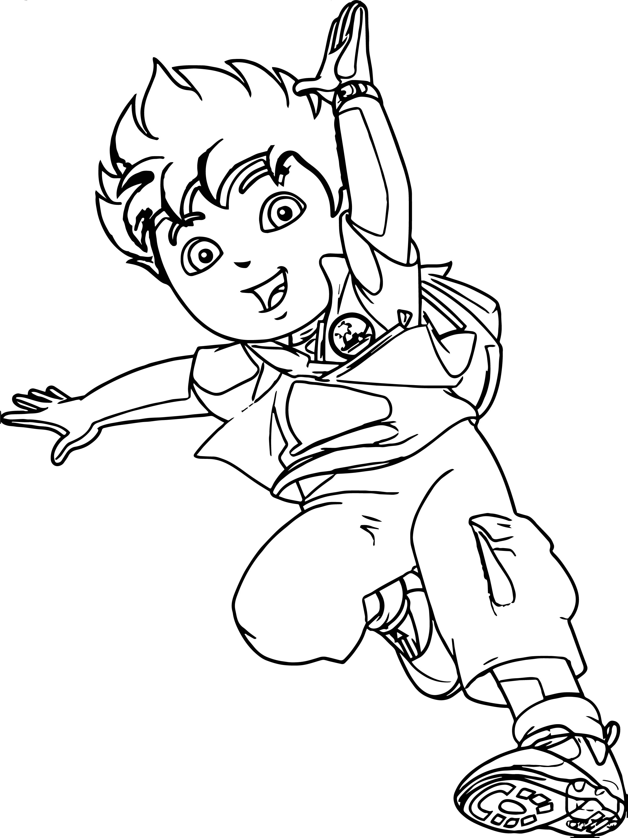 Go Diego Go Jump Coloring Page
