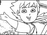Go Diego Go Just Here Coloring Page