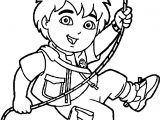 Go Diego Go Rope Coloring Page