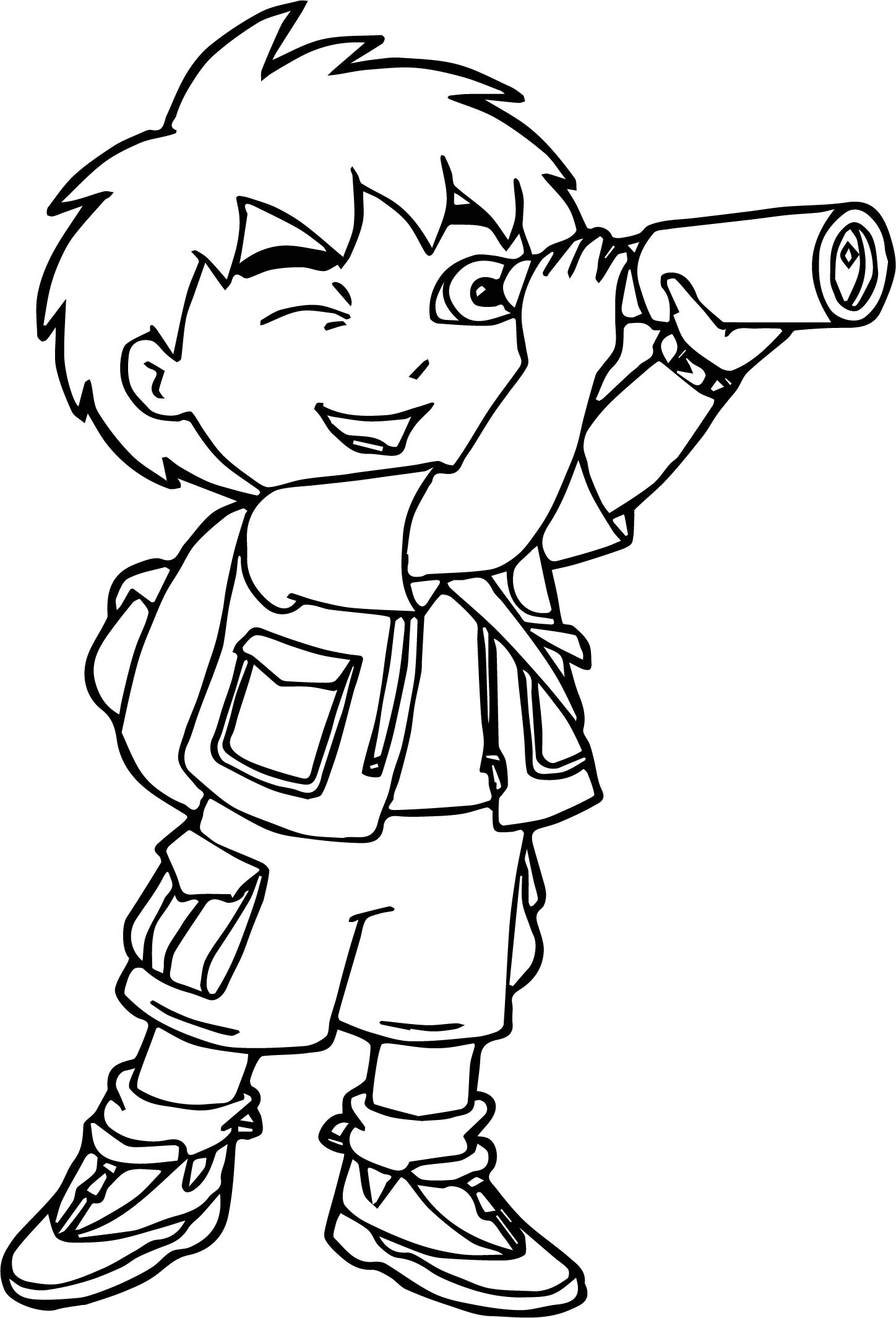 Go Diego Go Watching Coloring Page Wecoloringpage Com