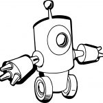 Go Robot Coloring Page