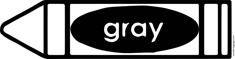 Gray Crayon Pen Coloring Page