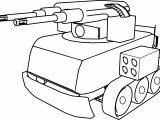 Gun Robot Tank Coloring Page
