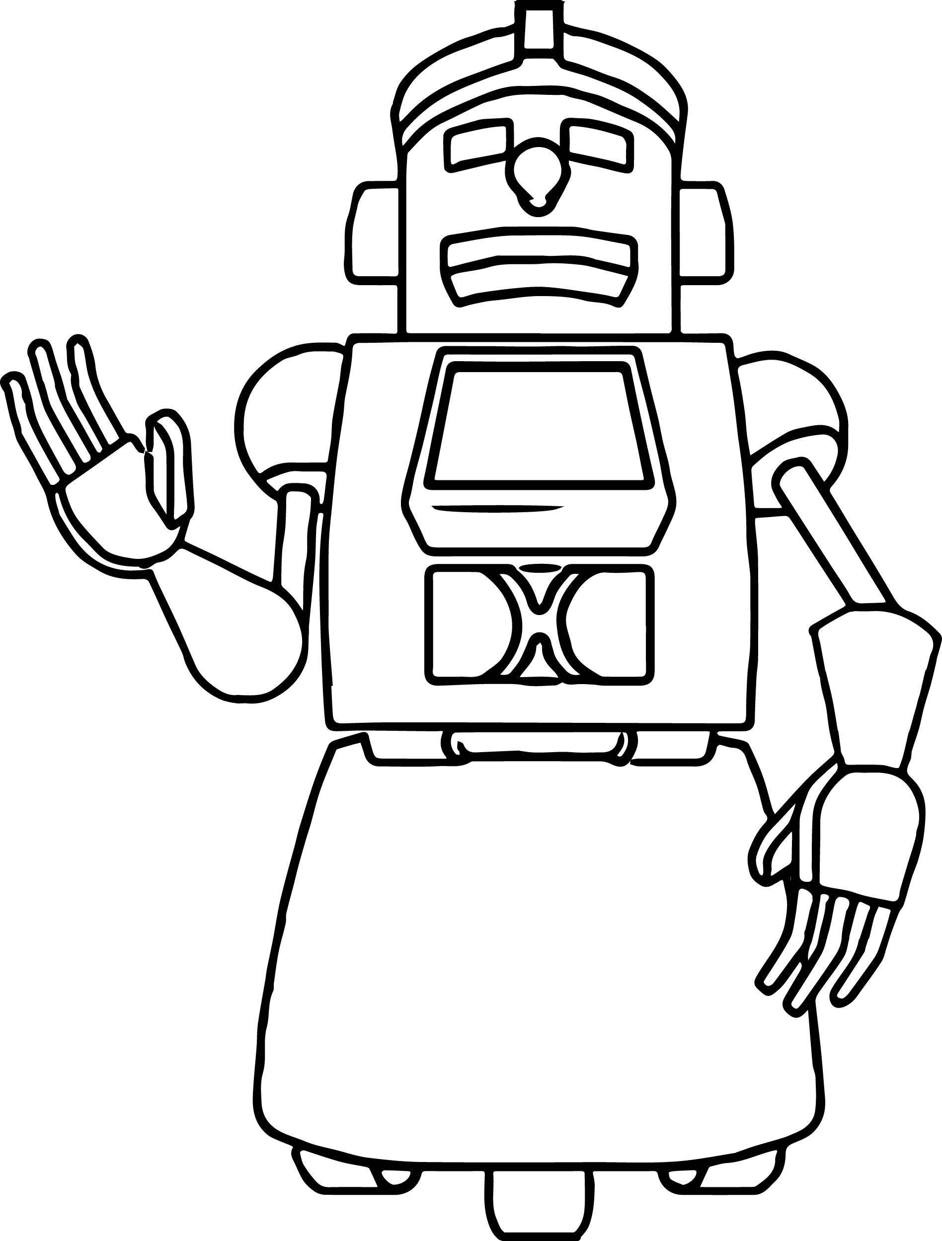 Home Work Robot Coloring Page