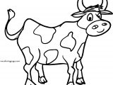 Images Free For Cow Face Coloring Page
