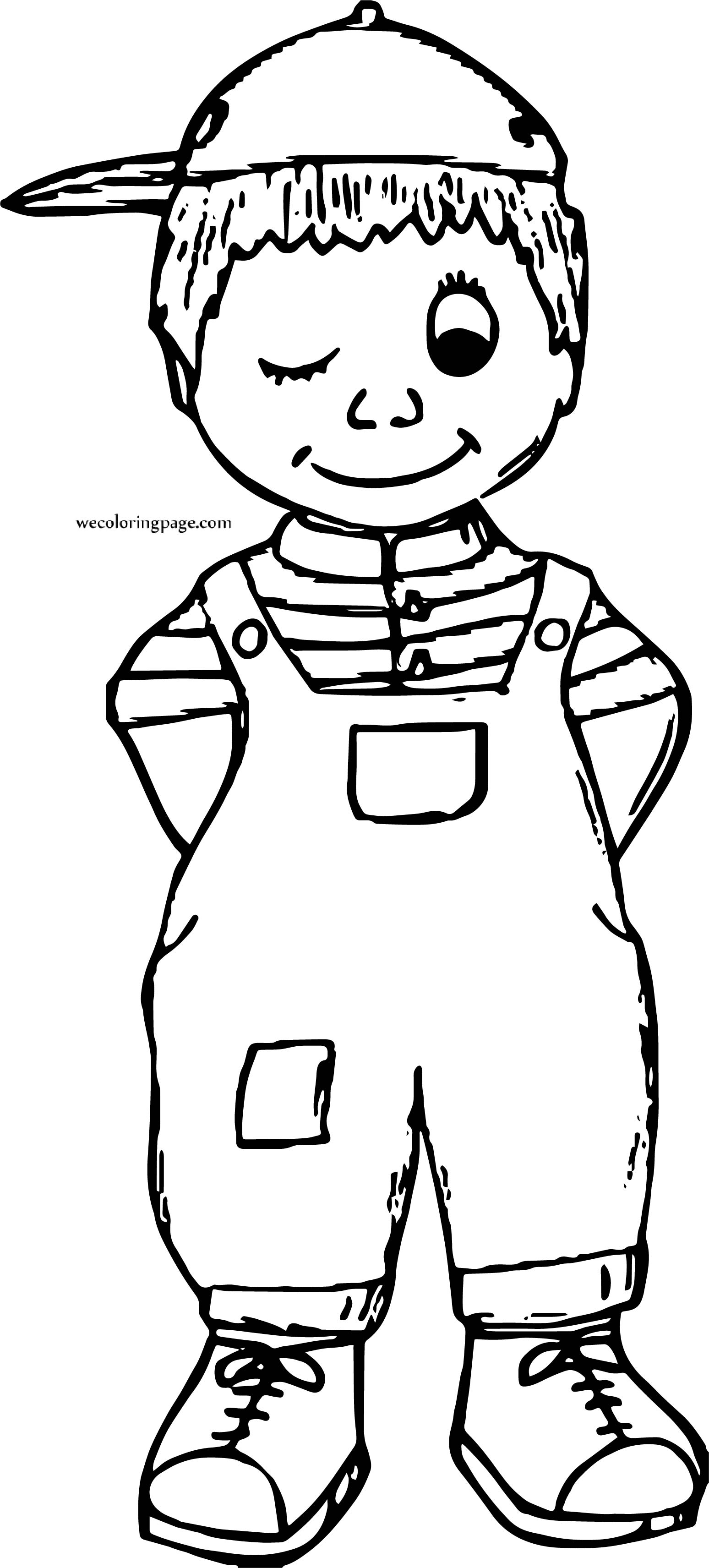 In Boy Wink Coloring Page