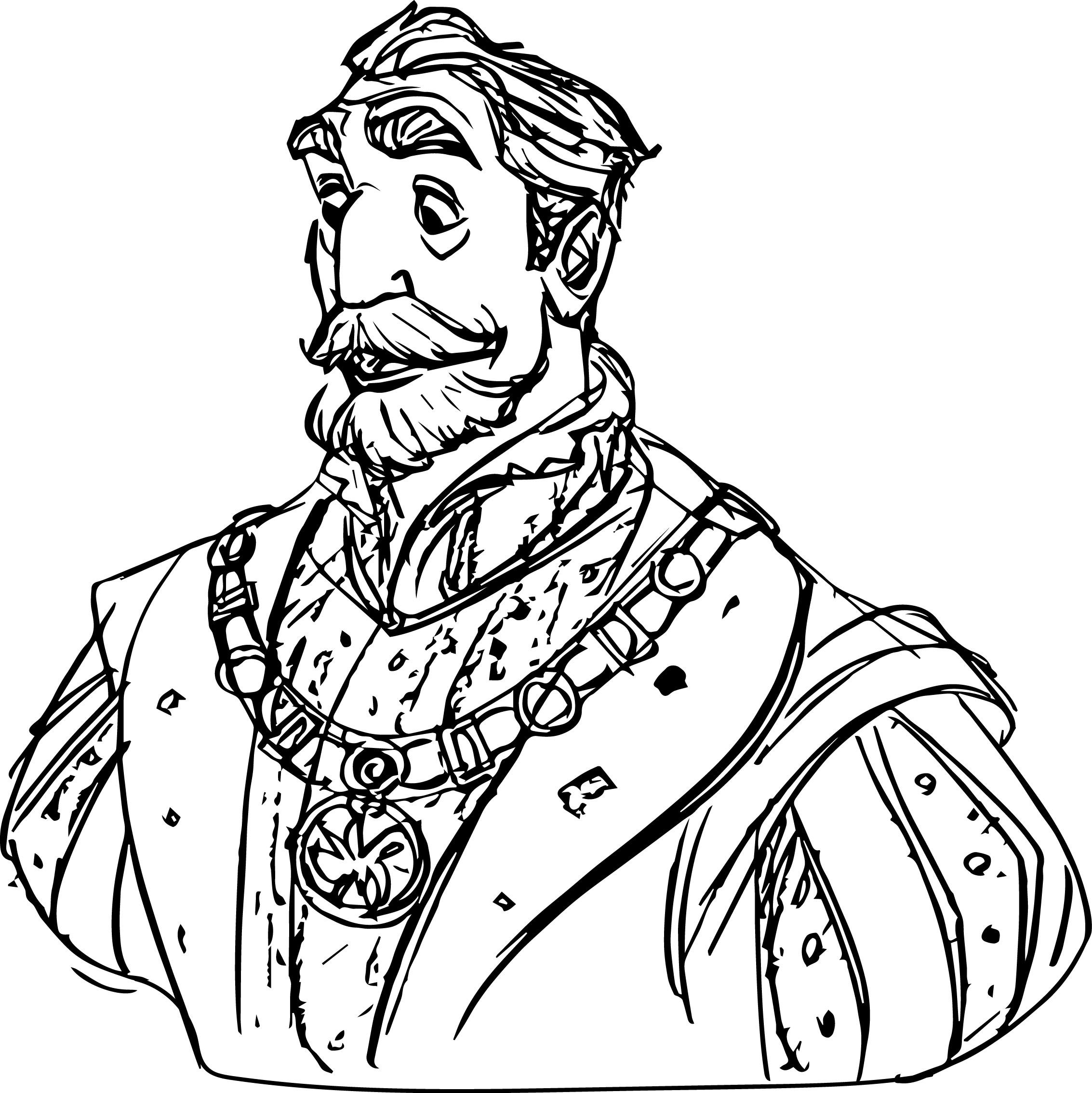 JK King Character Character Coloring Page