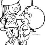 Jojo Goliath Swing Circus Lion Coloring Page