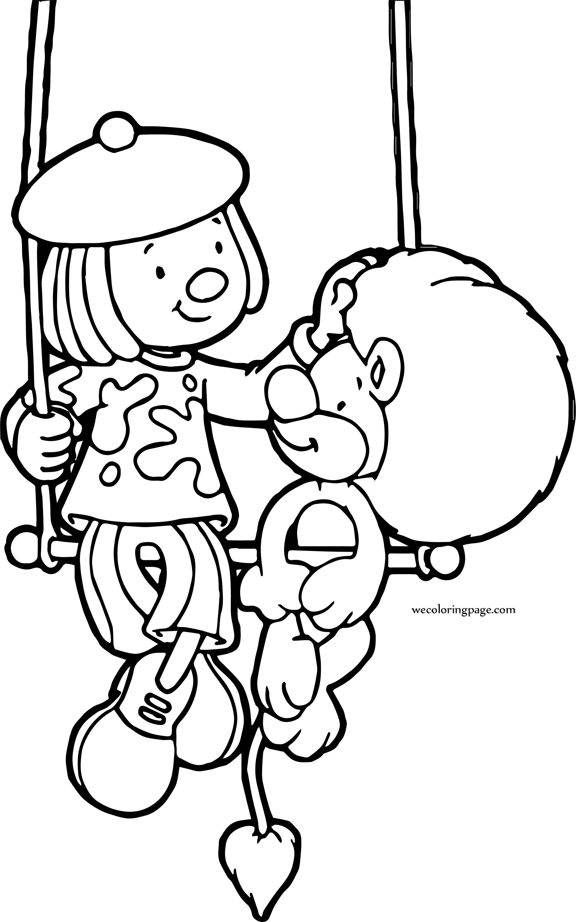 Jojo Goliath Swing Circus Lion Coloring Page