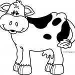 Just Cow Cartoon Coloring Page