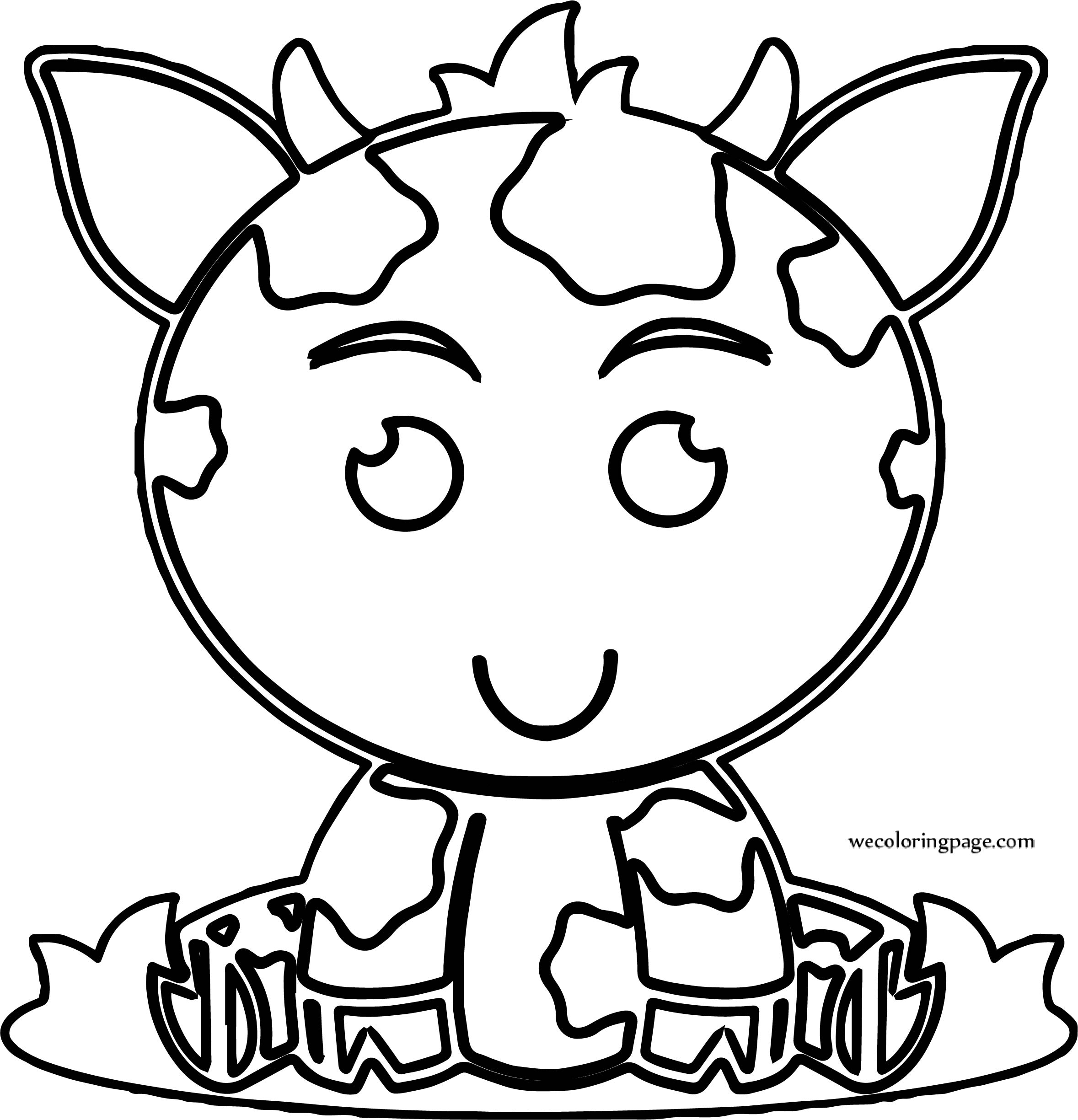 Large Baby Cow Coloring Page