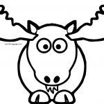 Lemmling Cartoon Moose Coloring Page