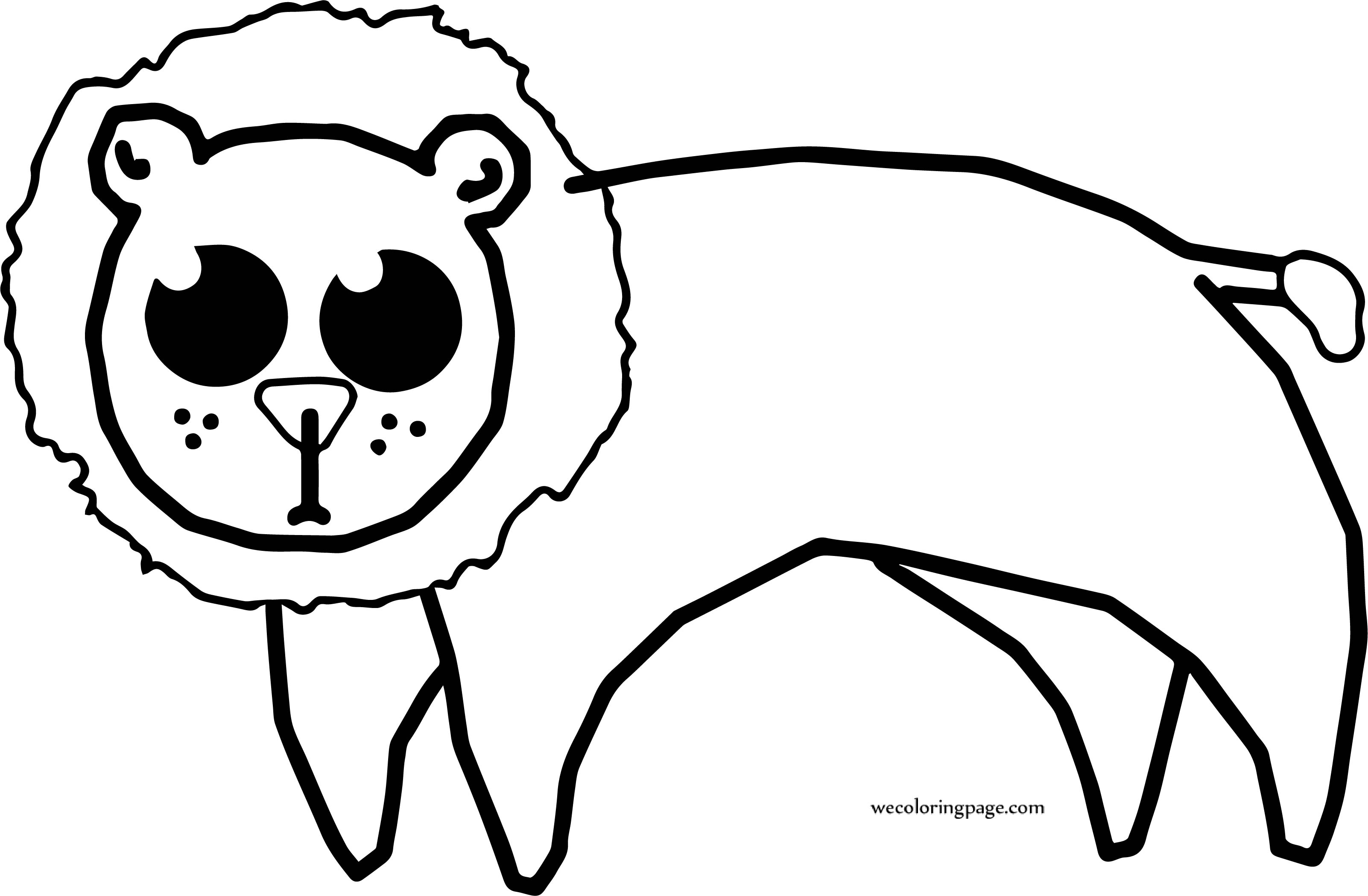Lion Circus Coloring Page