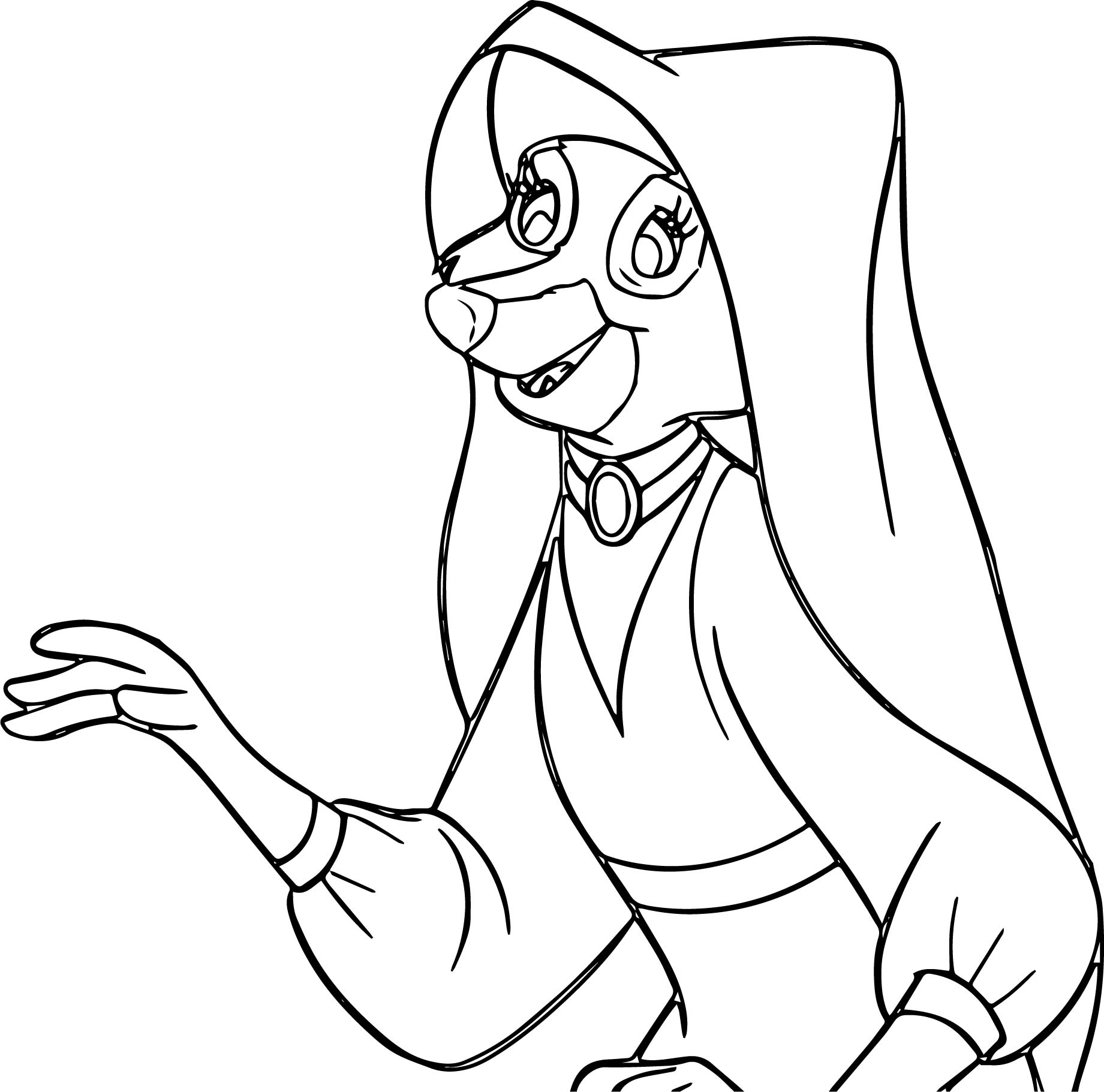 Maid Marian Talking Coloring Page