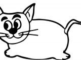 Mouse Cat Coloring Page
