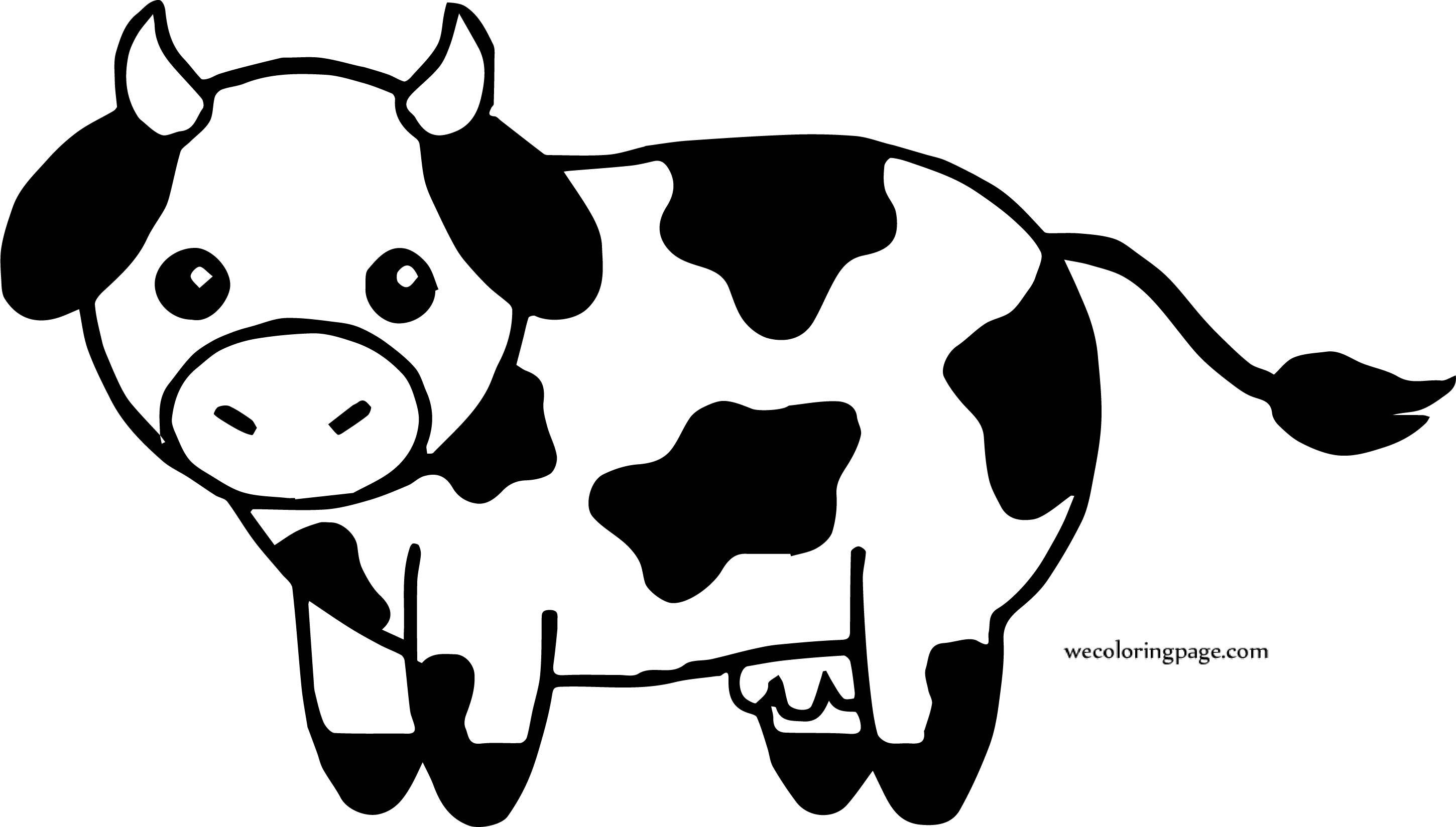 New Small Cow Coloring Page