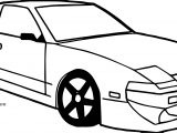 Old Sports Car View Coloring Page