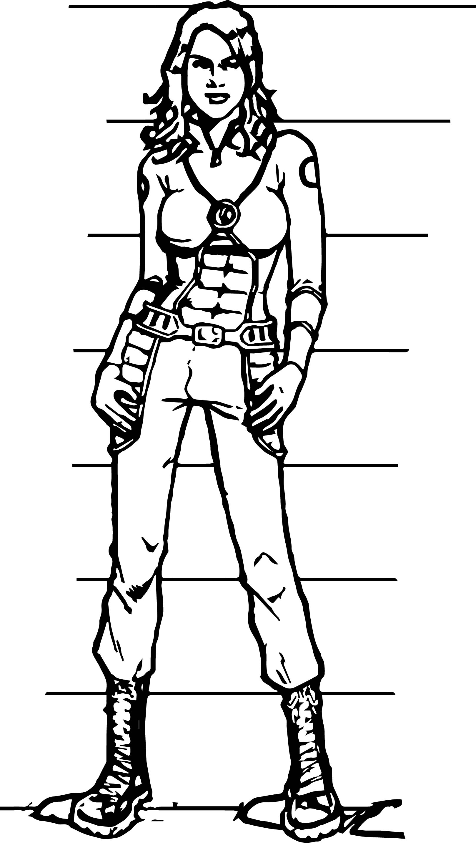 Olivia Munn Character Design Coloring Page