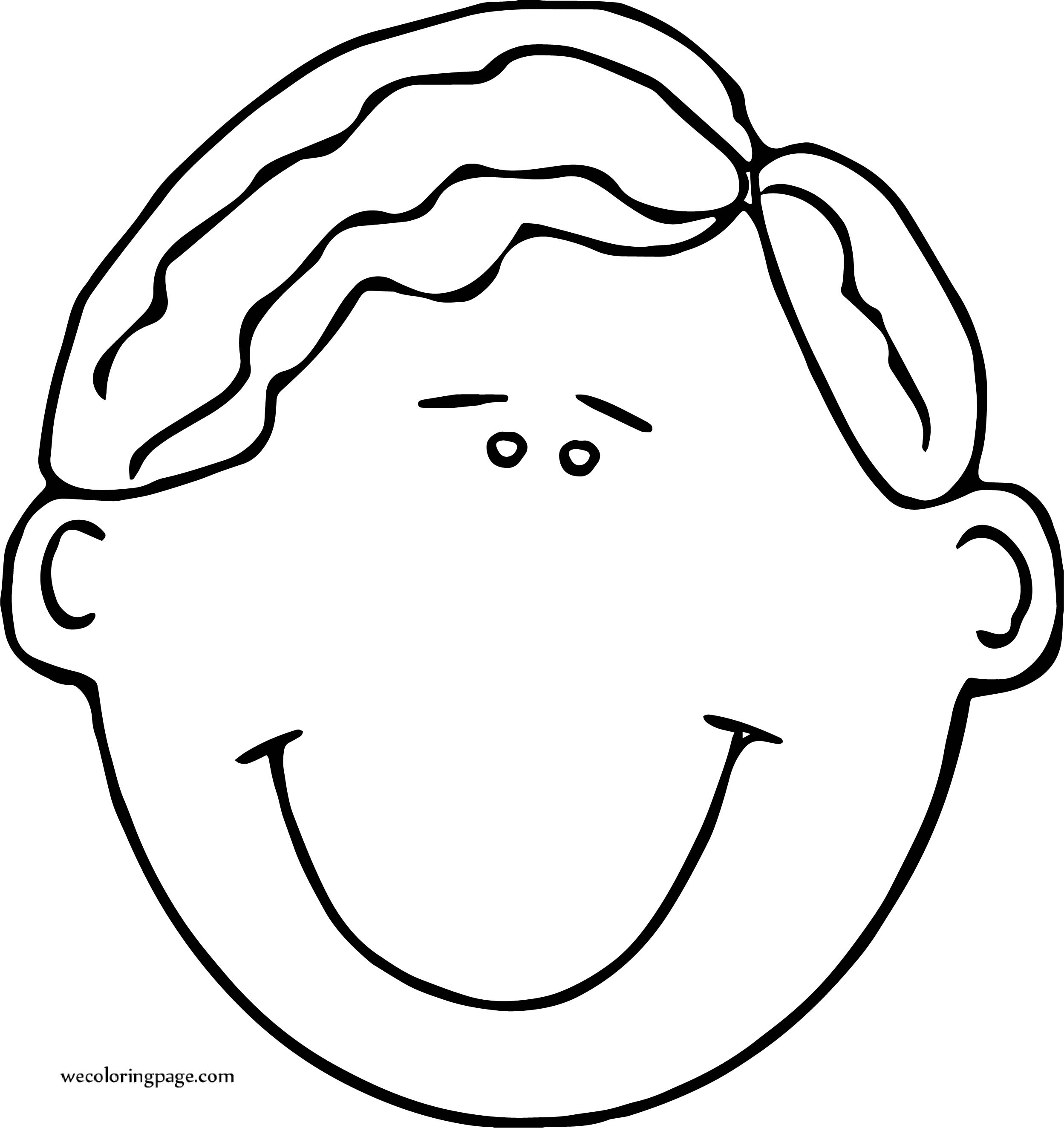 Out Boy Face Coloring Page