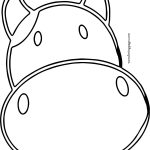 Outline Cow Face Coloring Page