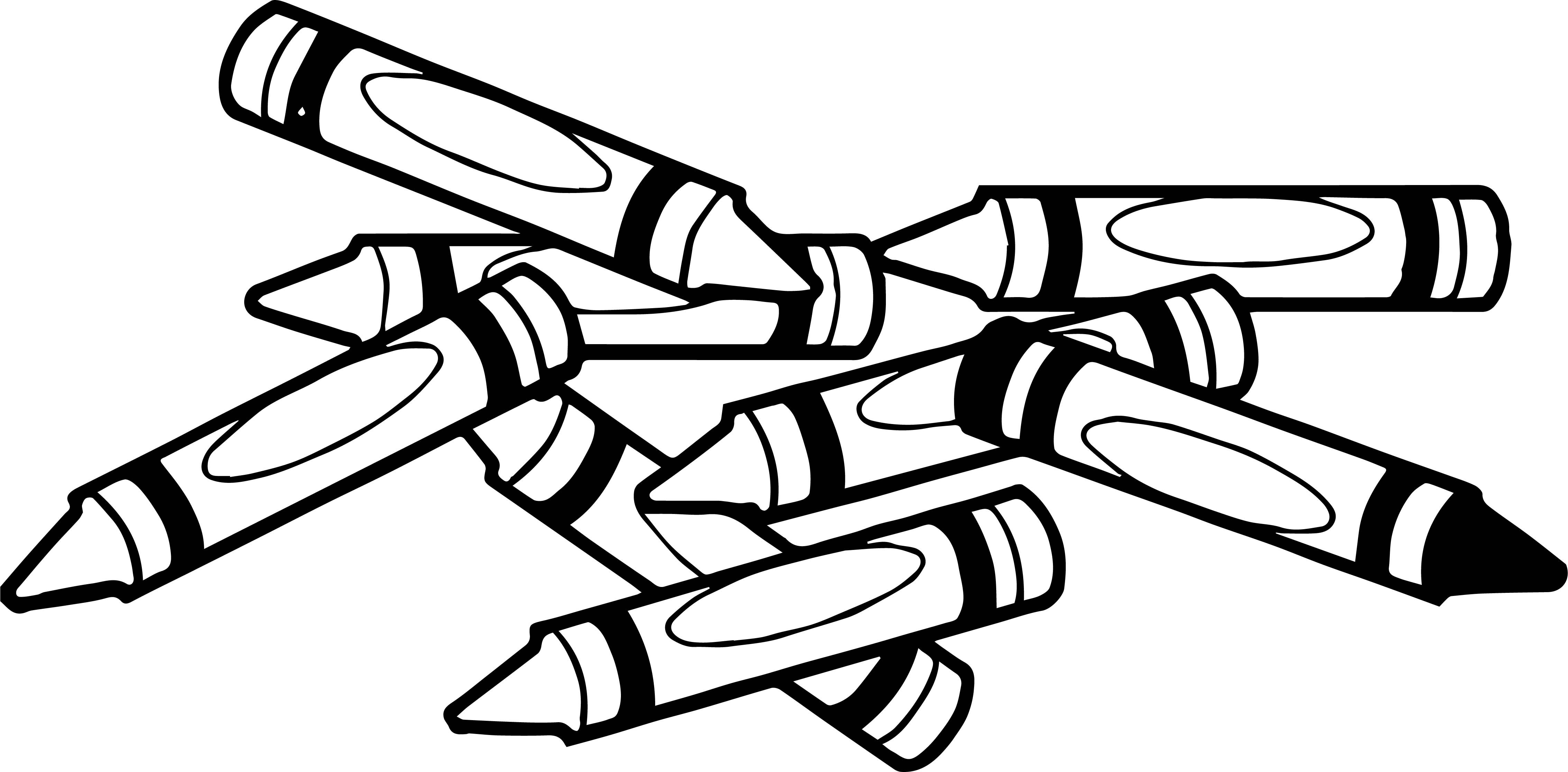 Painting Crayon Pen Coloring Page