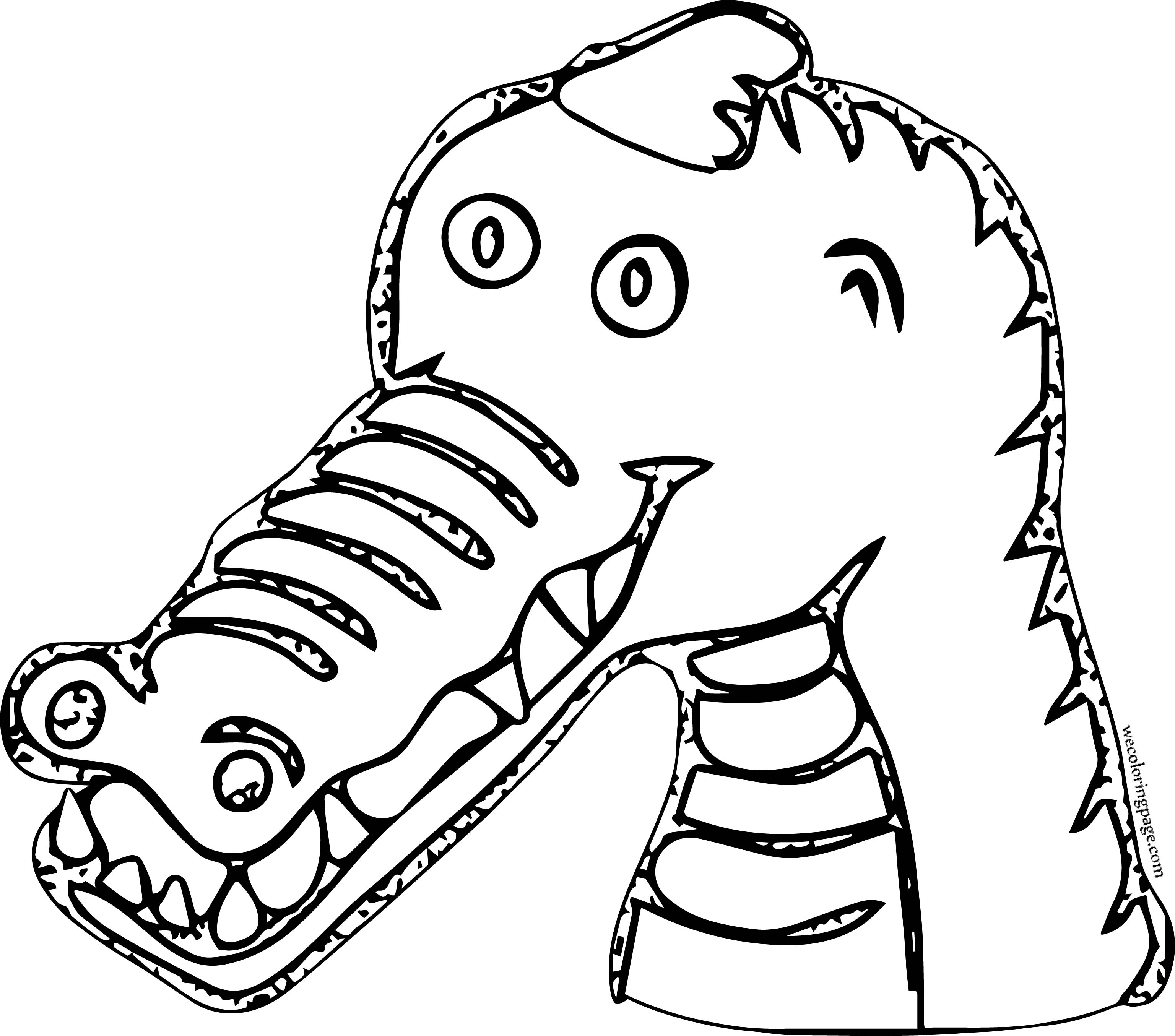 Party Crocodile Alligator Coloring Page