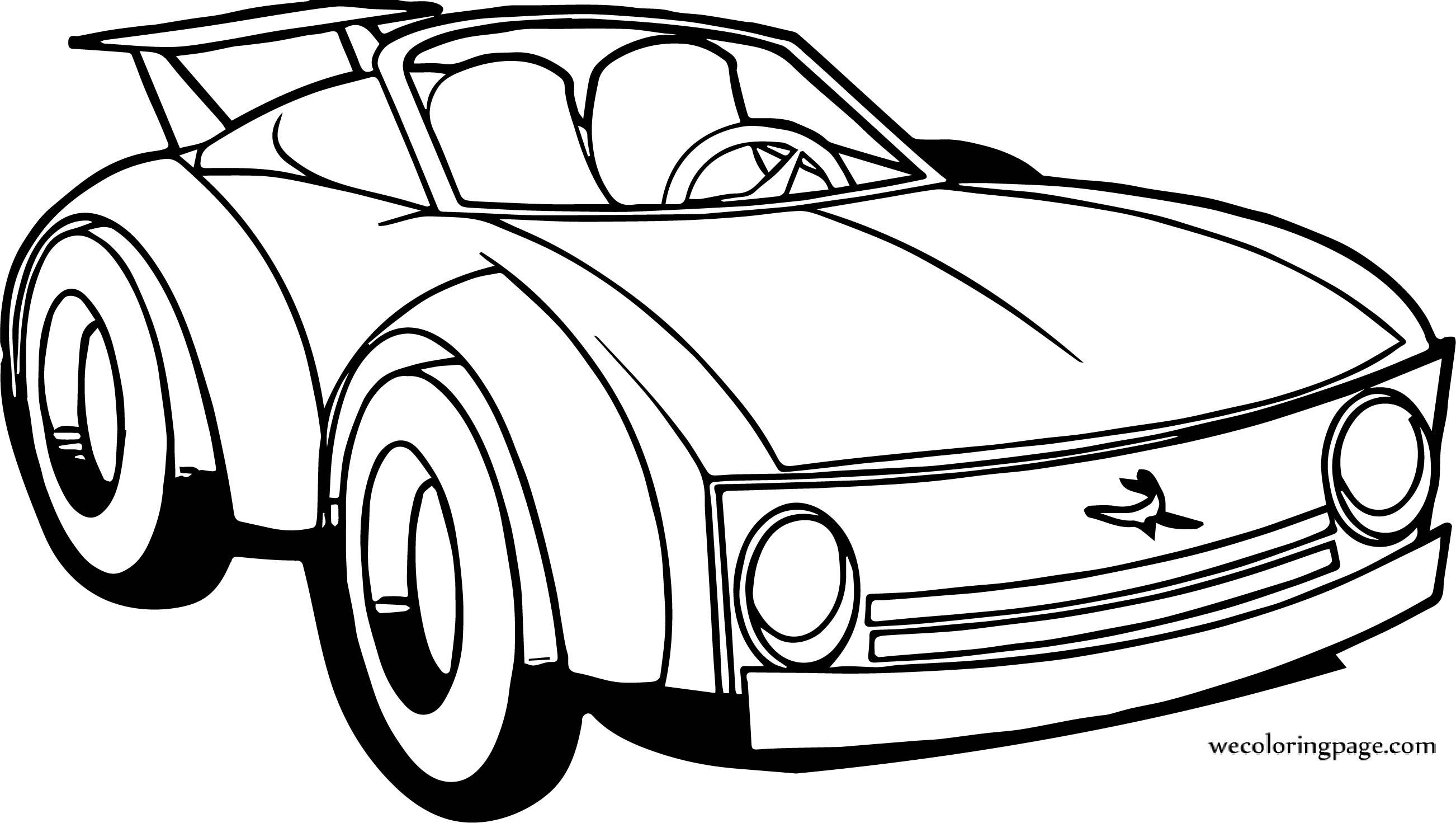 Perspective Car Cartoon Coloring Page