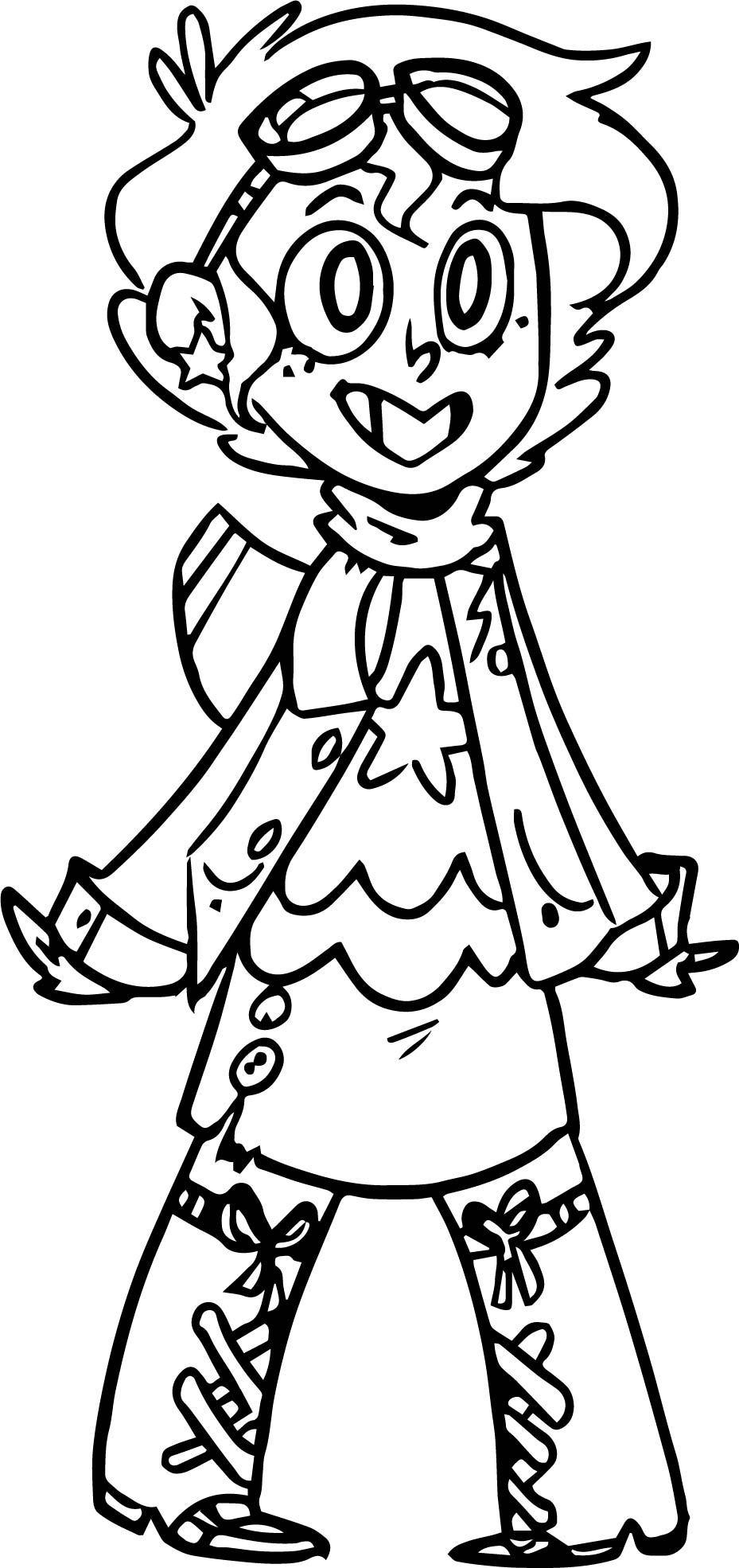Pilot Girl Coloring Page