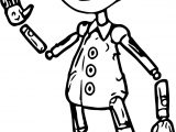 Pinocchio Character Design Coloring Page