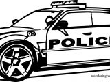 Police Big Jeep Car Coloring Page