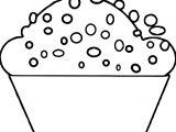 Polka Dot Cupcake Coloring Page