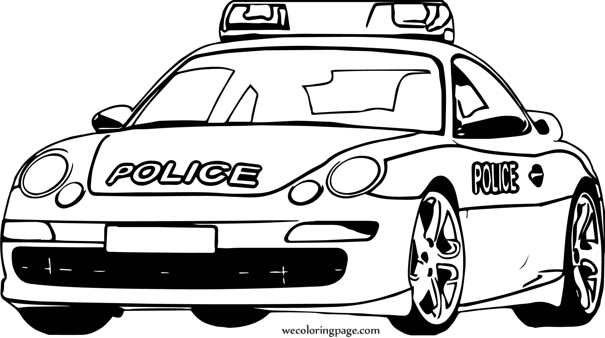 Porsche Police Car Coloring Page Wecoloringpage Com