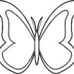 Purple Butterfly Hi Outline Coloring Page