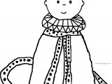 Quenn Caillou Coloring Page