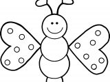 Red Cartoon Butterfly Coloring Page
