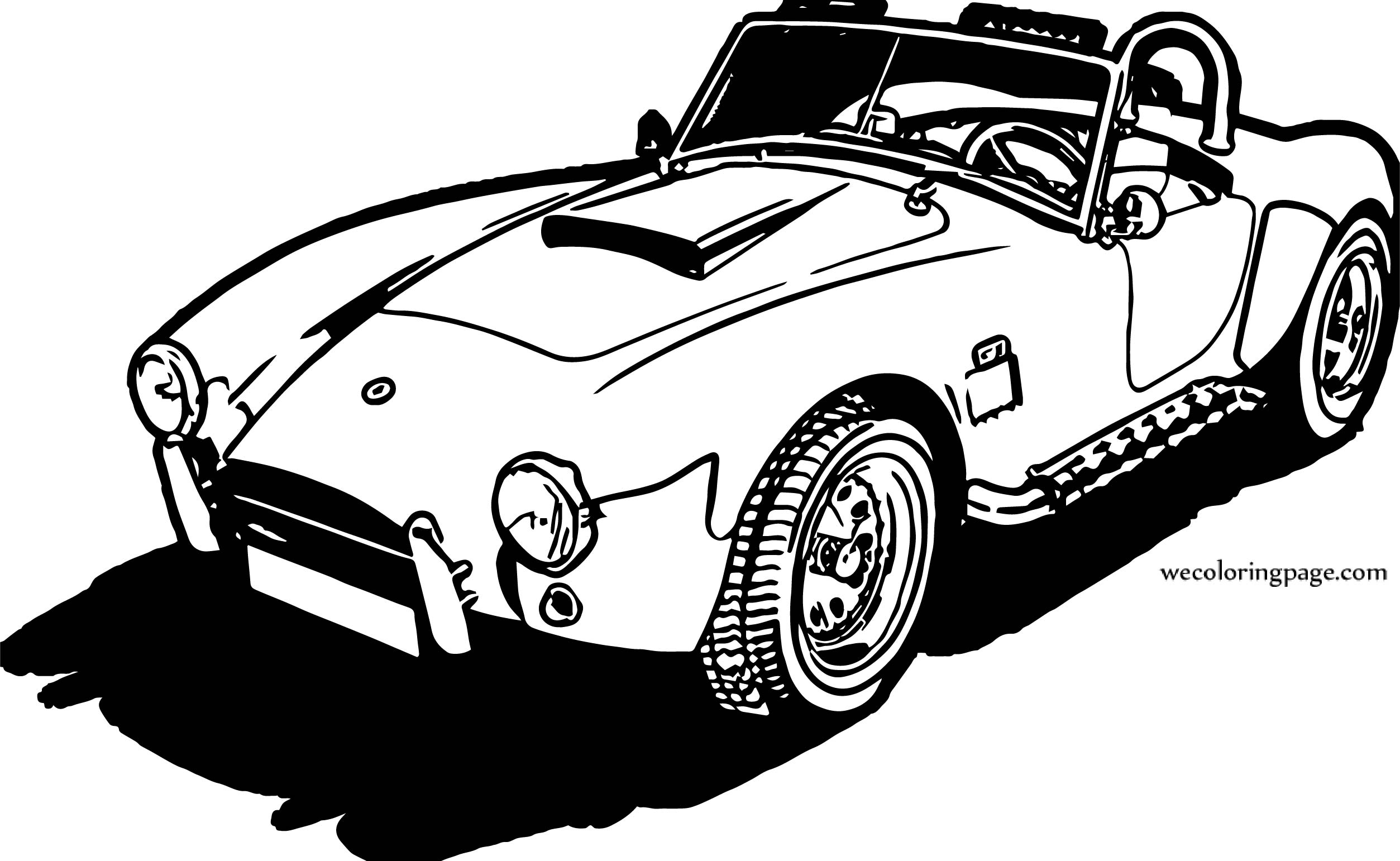 Retro Sports Car Shelby Coloring Page