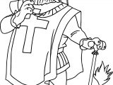 Robin Hood King Lion Coloring Page