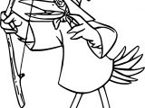 Robin Hood Pelican Coloring Page