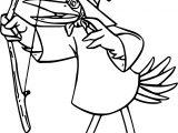 Robin Hood Pelican Coloring Page